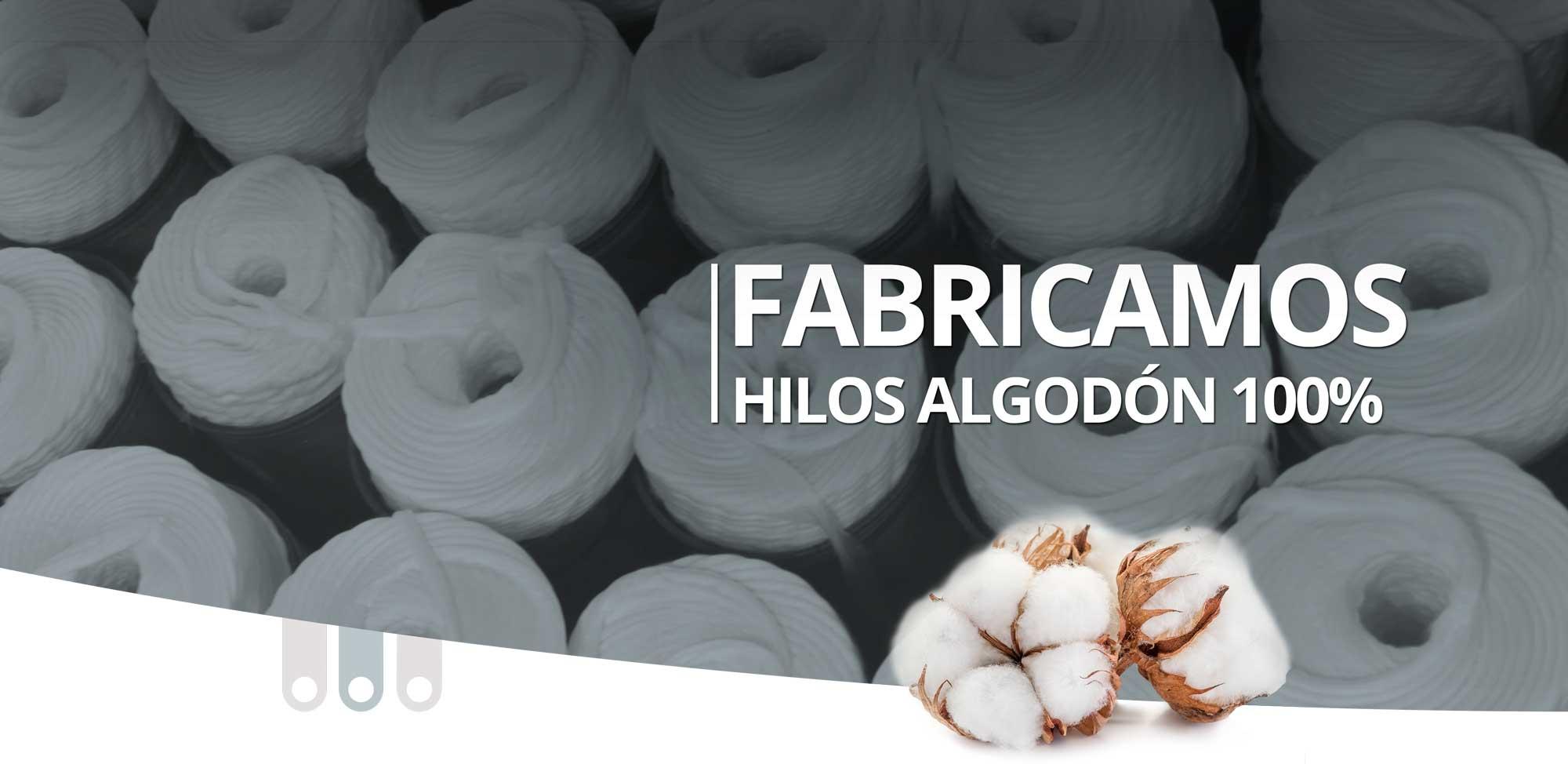 Fabricamos hilos algodon 100%